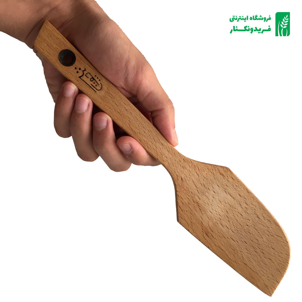 قاشق حلالی چوبی جنس راش برند چوتاش