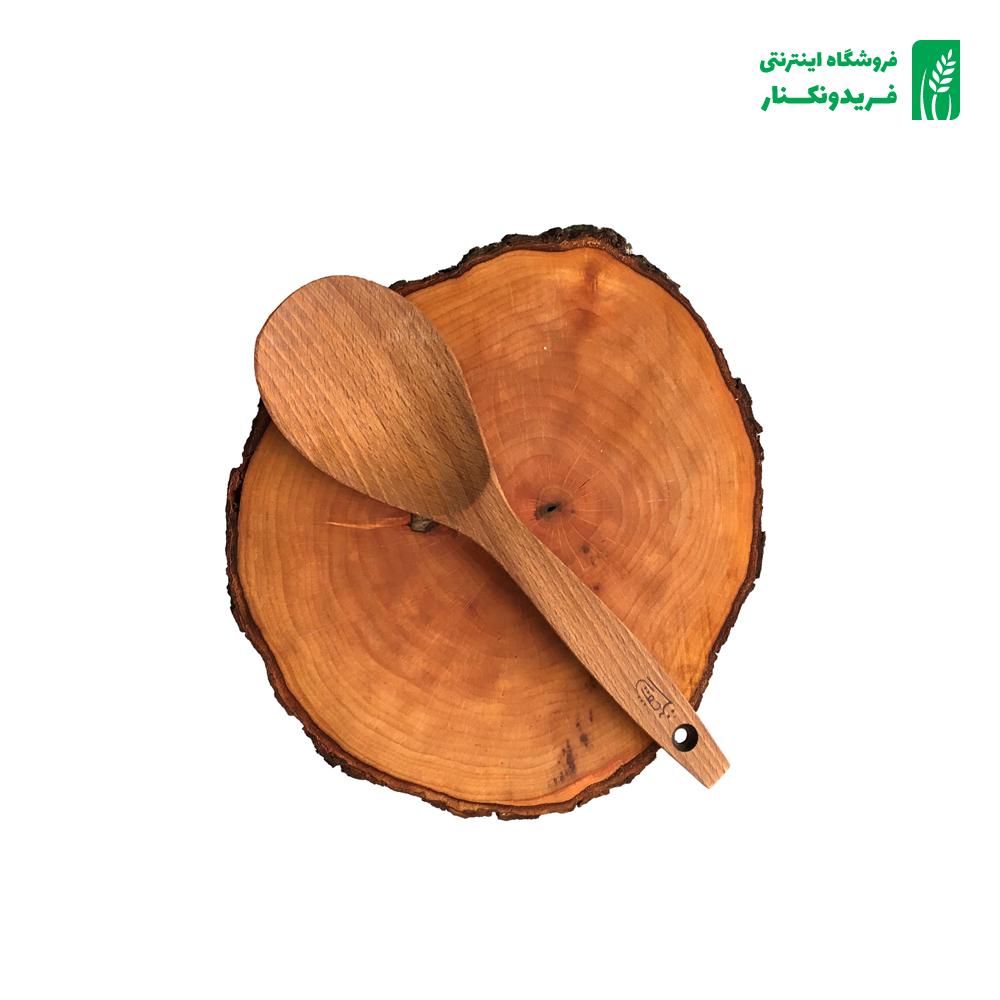 قاشق خورشتی چوبی جنس راش برند چوتاش