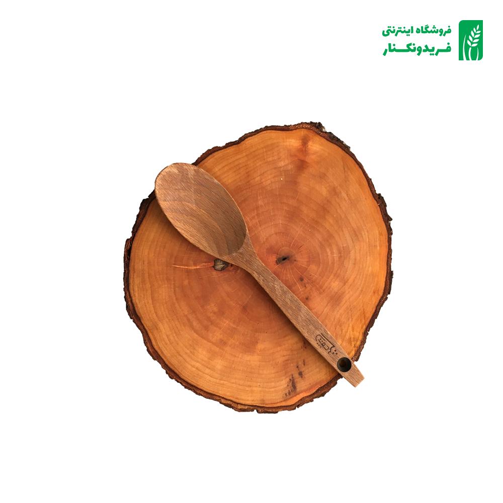قاشق خورشتی کوچک چوبی جنس راش برند چوتاش