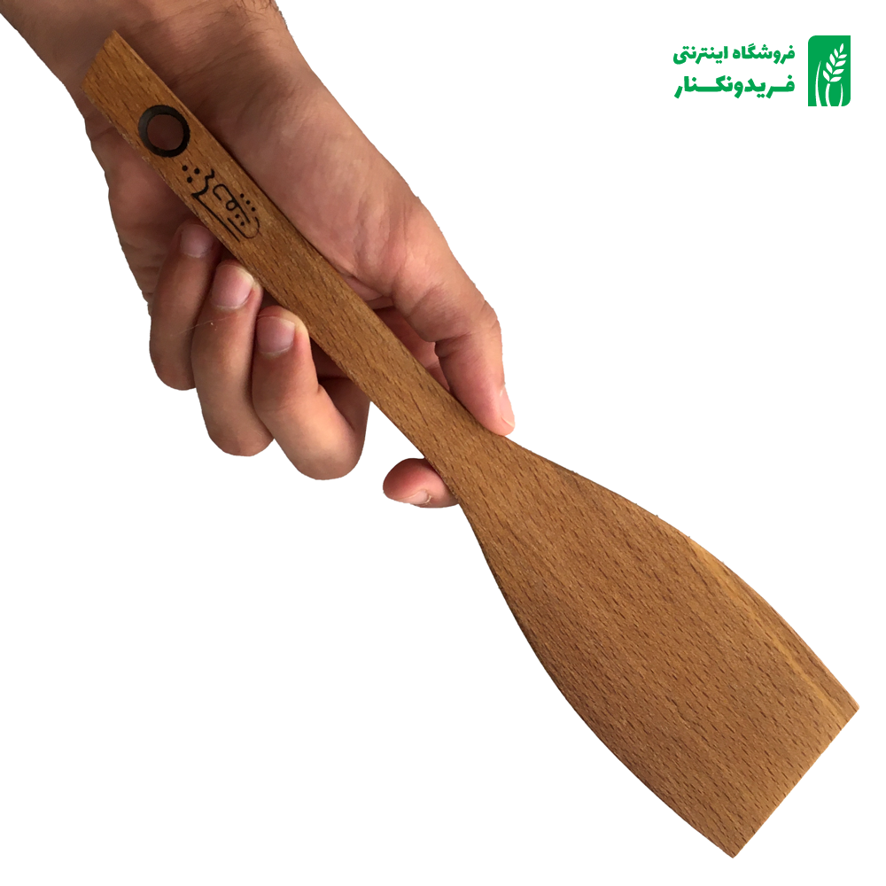 قاشق لب کج چوبی جنس راش برند چوتاش
