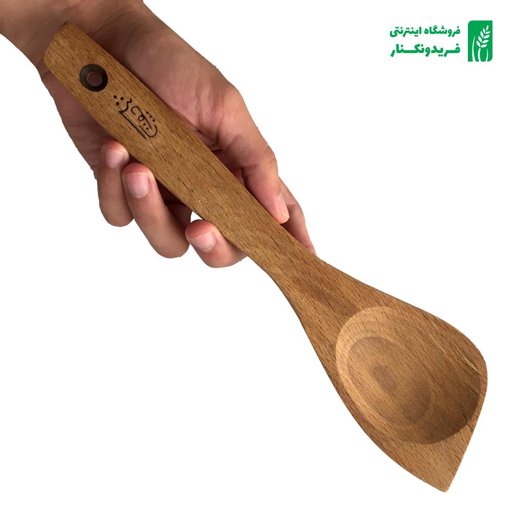 قاشق ۲ در ۱ چوبی جنس راش برند چوتاش
