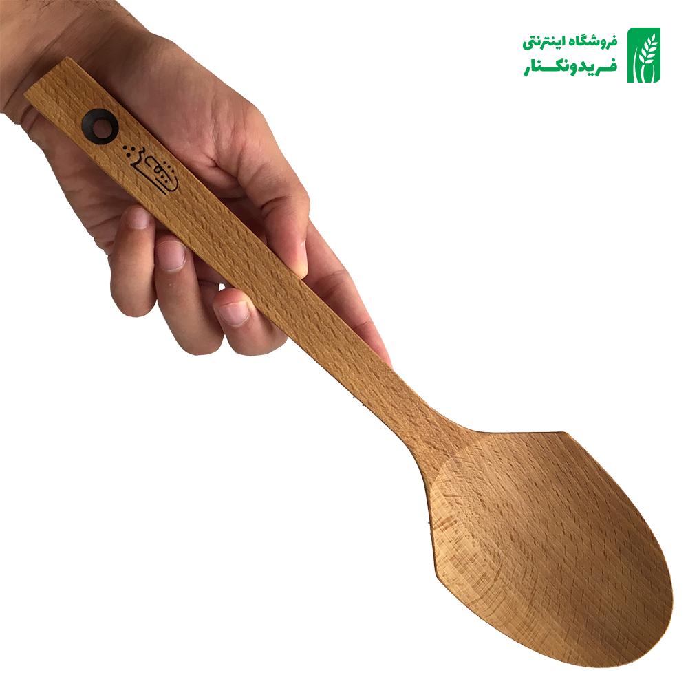 قاشق پلویی چوبی جنس راش برند چوتاش